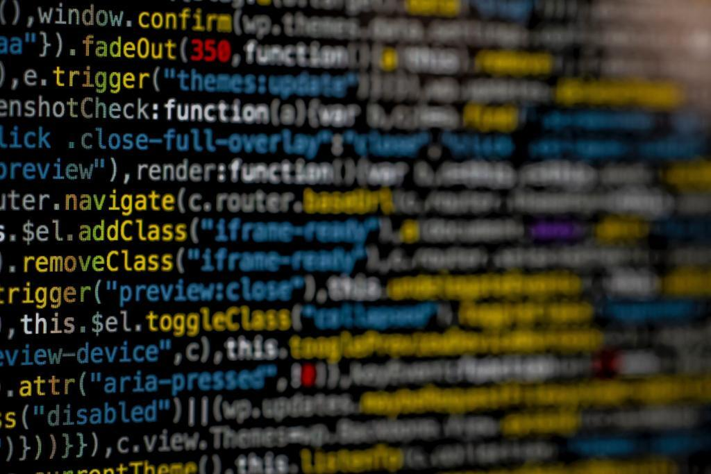 computer screen close up of code