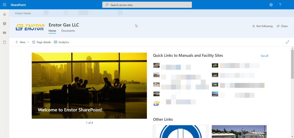 Enstor SharePoint Portal